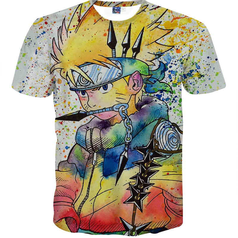 Summer Tops Men/Women Funny Cartoon T Shirt Dragon Ball Cartoon 3D T Shirt For Men Slim Fit TShirt Camisetas Homme tie dye Print