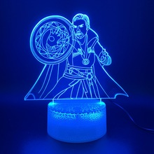 3d Led Night Light Lamp Marvel Superhero Doctor Strange Figure Home Decoration Holiday Gift for Kid Boy Child Nightlight