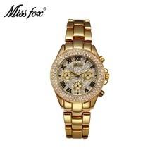 TOP Luxury Gold Women Watches New Classic Dress Watch Brand Quartz Ladies Rhinestone regalos para mujer