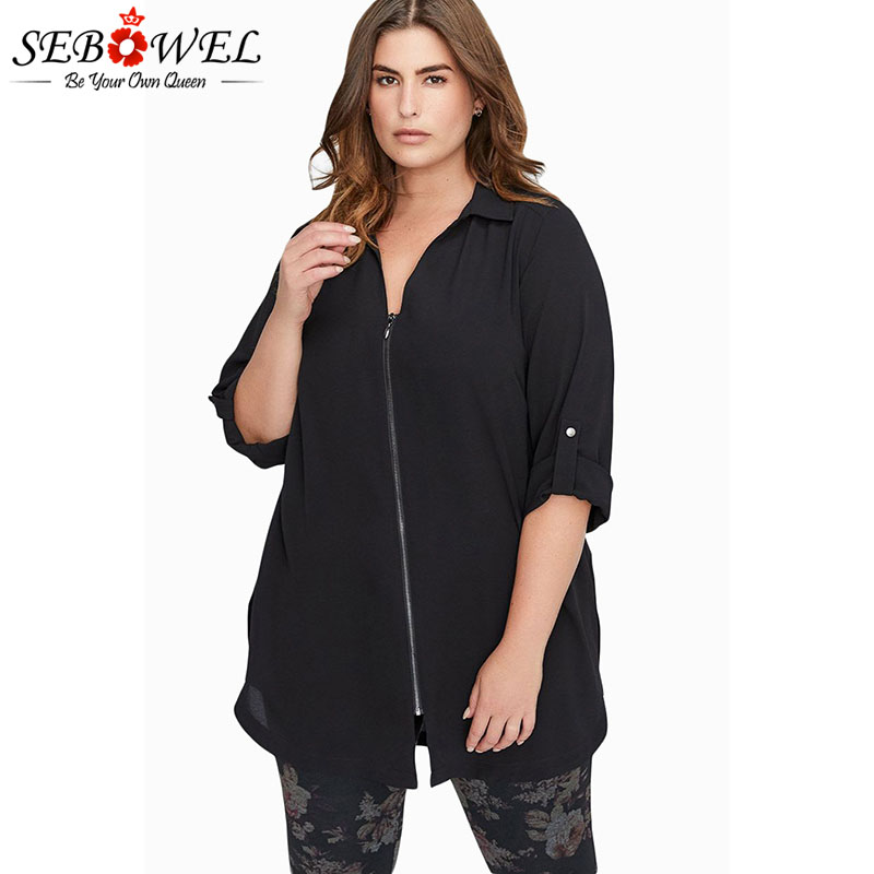 SEBOWEL Plus Size Chiffon   Blouses     Shirts   Woman Spring Autumn 2019 Ladies Casual Large Size Chiffon   Blouse   for Female Top Clothes