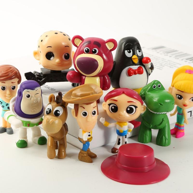 10pcs Set Toy Story Figure Woody Buzz Lightyear Jessie Rex