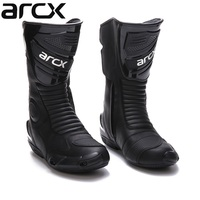 Free shipping 1pair Motorcycle Boots High Fiber Pro Racing SPEED Motocross Racing Cowhide Leather Shoes