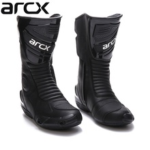 Free delivery 1pair Motorcycle Boots High Fiber Pro Racing SPEED Motocross Racing Cowhide Leather Shoes