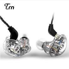 Newest TRN V10 2DD+2BA Hybrid In Ear Earphone HIFI DJ Monitor Running Sport Earphone Earplug Headset With 2PIN Cable KZ ZS5