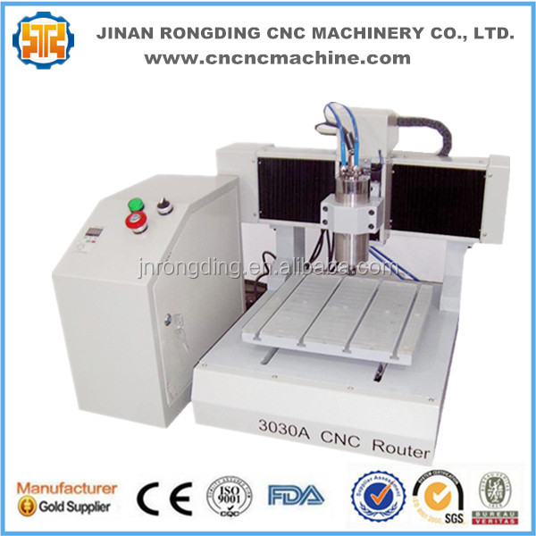 Best price wood mini cnc milling machine , hobby diy advertising cnc router 3030 for metal , acrylic , MDF