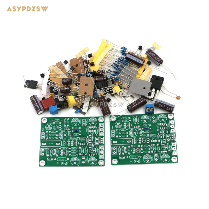 цена на 2 PCS L7 MOS FET CLASS AB Audio power amplifier DIY Kit IRFP240 IRFP9240 (2 channel)