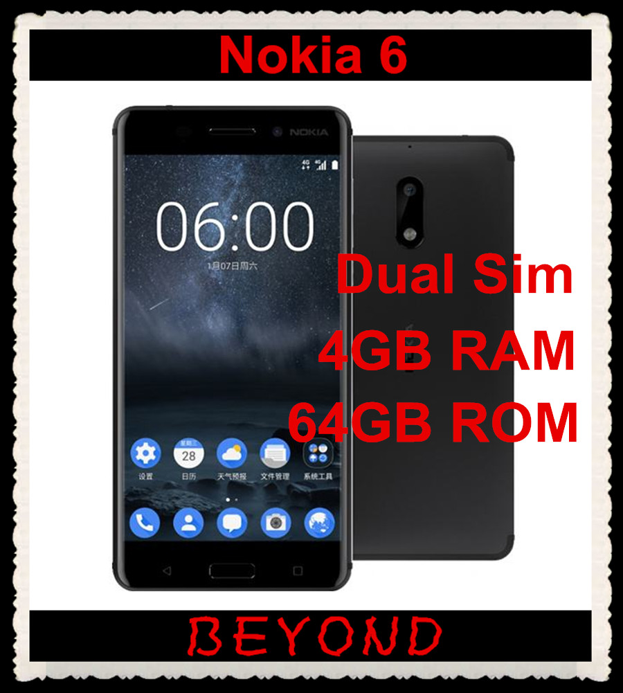 Nokia 6 Arte Black Video Us 206 Nokia 6 Dual Sim Original Unlocked Android Mobile Phone 4g Lte Gsm 5 5 16mp Wifi Gps Octa Core 4gb Ram 64gb Rom 3000mah In Mobile Phones