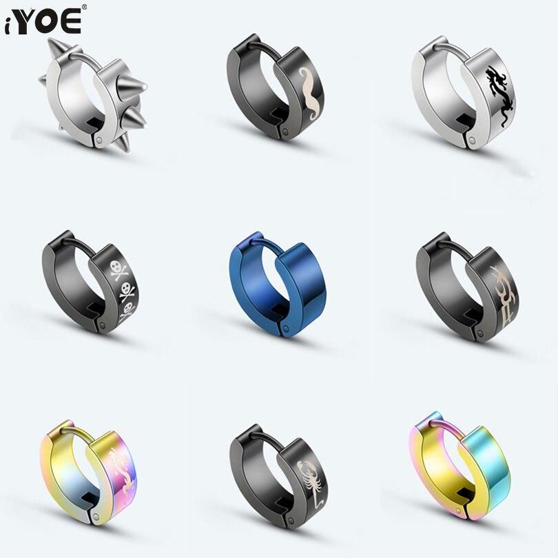 1 шт., Мужская серьга-кольцо IYOE в стиле панк
