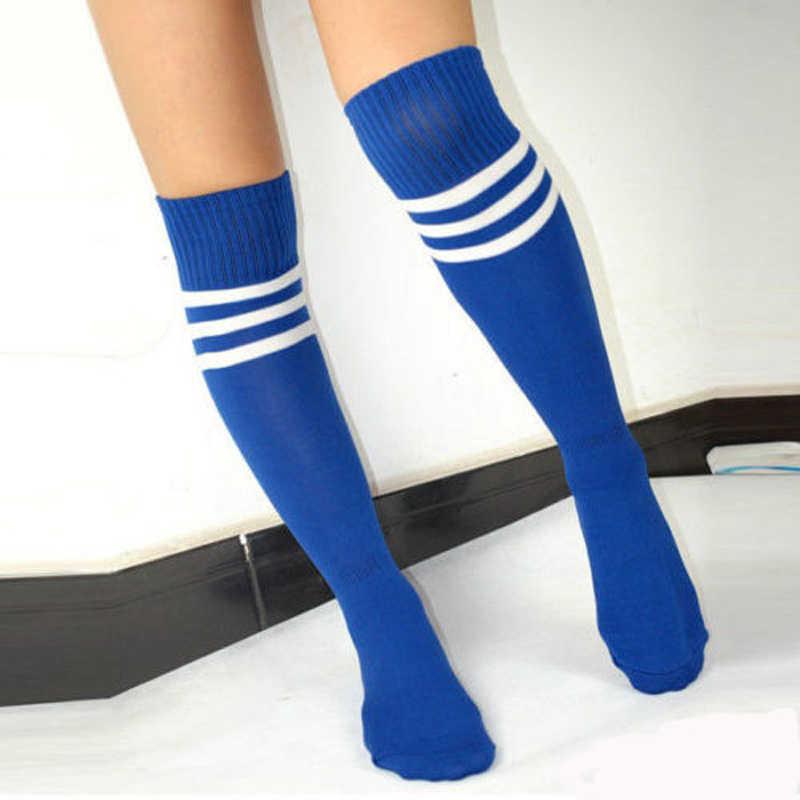 221ed62b87fd9 ... Knee High Socks For women Girls Football Stripes Cotton Sports Old  School White Socks Skate girls ...