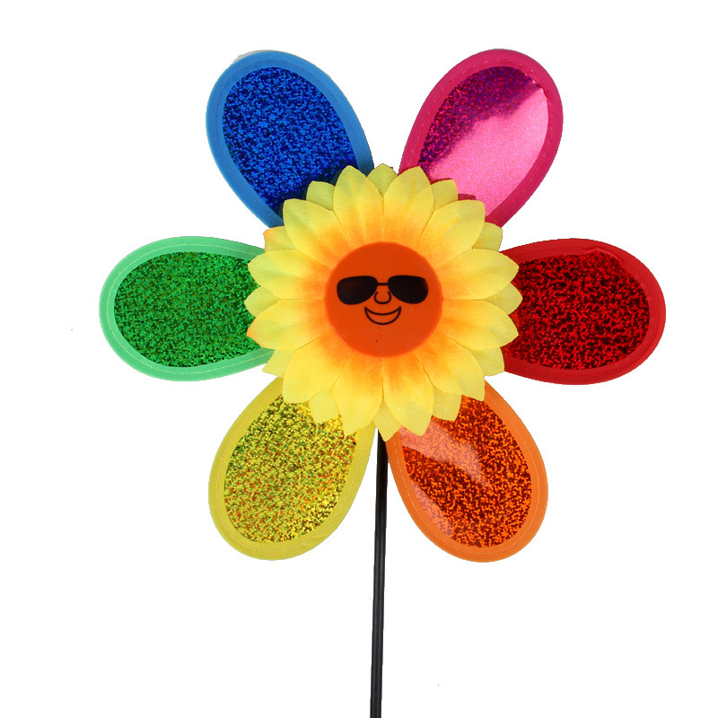 Classic Toys Windmill Colorful Kids Large Sunflower Windmill Traditional Outdoor Fun Toys For Children