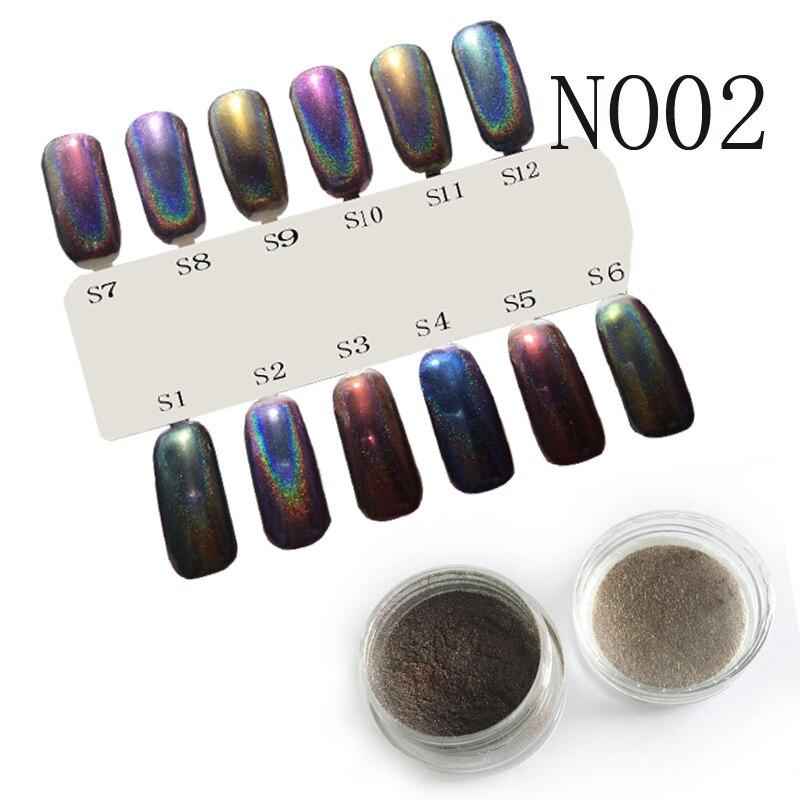 1g Vtirka holografico Cromo Cromo Pigmento De Uñas Esmalte de Uñas ...