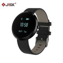 Jrgk смарт браслет спорт шагомер группа чсс трекер фитнес часы монитор артериального давления браслет для ios android phone