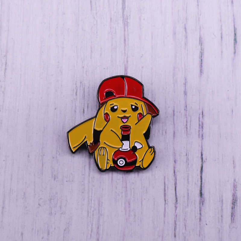 Nette Pikachu Emaille Pin Pokemon Pokeball Brosche