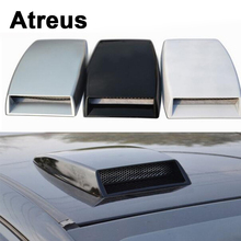 Atreus Carbon Fiber Car Decorative Air Flow Vent Cover Hood Stickers For VW polo passat b5 b6 Mazda 3 6 cx-5 Toyota corolla Ford