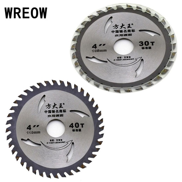 1pc 4 Inch Saw Blade 30t 40t Disc Diamond Circular Woodworking Wood Metal Acrylic
