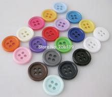 NBNLKO 100pcs colorful buttons for craft decoration 1/2 round shape DIY sewing button scrapbooking Supplies
