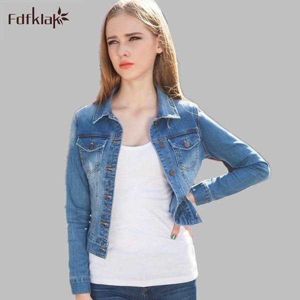 Denim Jackets Short Women 2017 Autumn New Big Size Blue ...