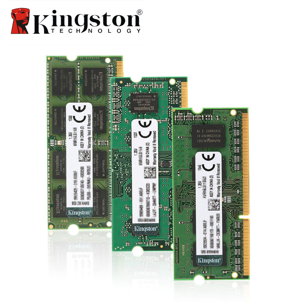 Ram Kingston Original Notebook RAM 1600 MHz 4 GB 8 GB 1,35 V DDR3 SODIMM genuino madre Intel memoria RAM para el ordenador portátil Ram Stick