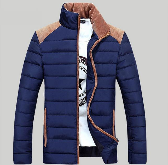 ФОТО Men Down Jacket Thick Warm Padded Coat 2017 Brand Parka Men Winter Jacket Fashion Quality Down Parka Solid Cotton Coat Male