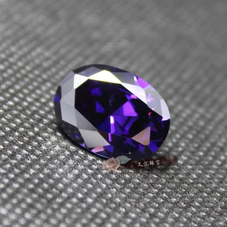 Oval shape Purple Cubic Zirconia CZ created gemstone beads for jewelry making DIY brilliant loose diamonds zircon stone women