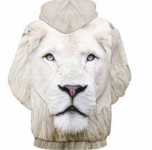 2017 3d print tiger king white O-neck Streetwear Sweatshirts Hoodies  women Ladies Femme  Fashion woman man  Sportwear tops