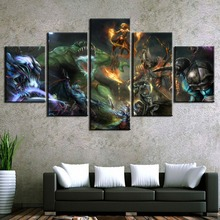 Canvas Wall Art Painting Modern HD Print Home Decor Picture DotA 2 Game 5 Piece Canvas Wall Art For Living Room Painting modern artwork home decor living room or bedroom 5 piece wall painting canvas print dota 2 vengeful spirit angel game picture