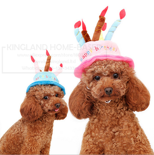Dog Birthday Cat Hat With Cake Candles Design Pets Puppy Cap Cute Party Costume Accessories Headwear