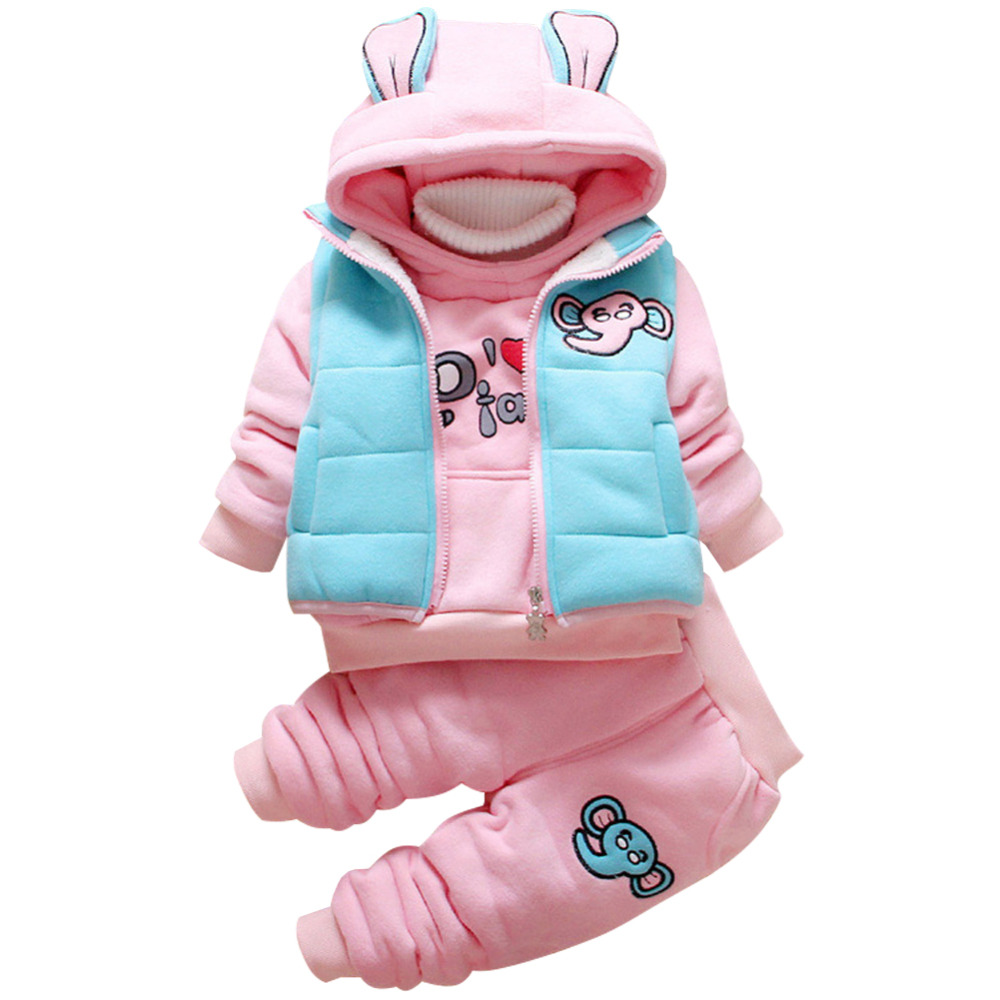 56203f493 Detail Feedback Questions about Baby Clothes Set Cartoon Cotton Warm Suit  Baby Girls Boys Infant Winter Velvet Thicken Clothing Set 3 Pieces on ...