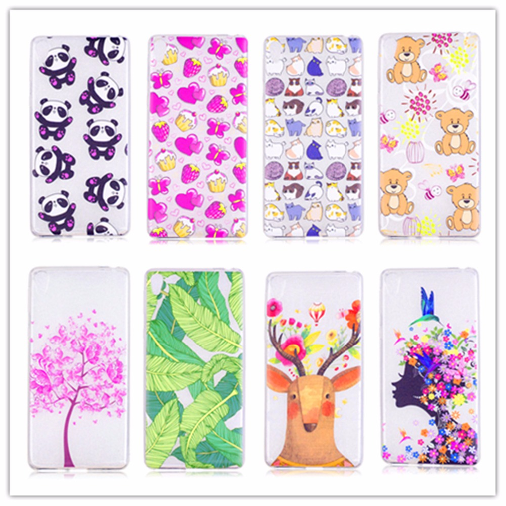Ultra Soft TPU Case for Sony Xperia E5 Case Cover E 5 F3311 F3313 5.0 inch 3D Covers Cartoon Pattern Soft Silicone Phone Case ...