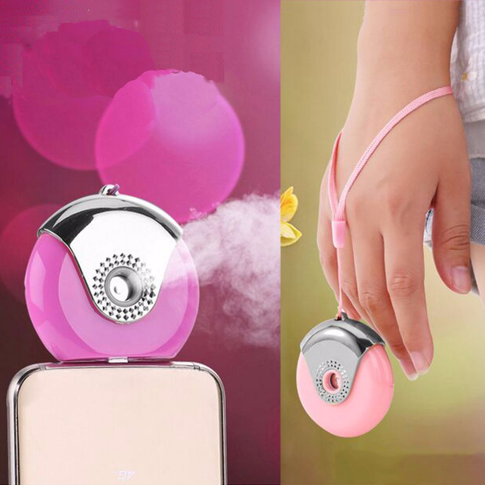 Mini Portable Air Humidifier USB Charging For iPhone/Android Nano Mist Handy Automization Facial Moisturizing Spray ganygy 618 handy mini portable usb powered humidifier green white