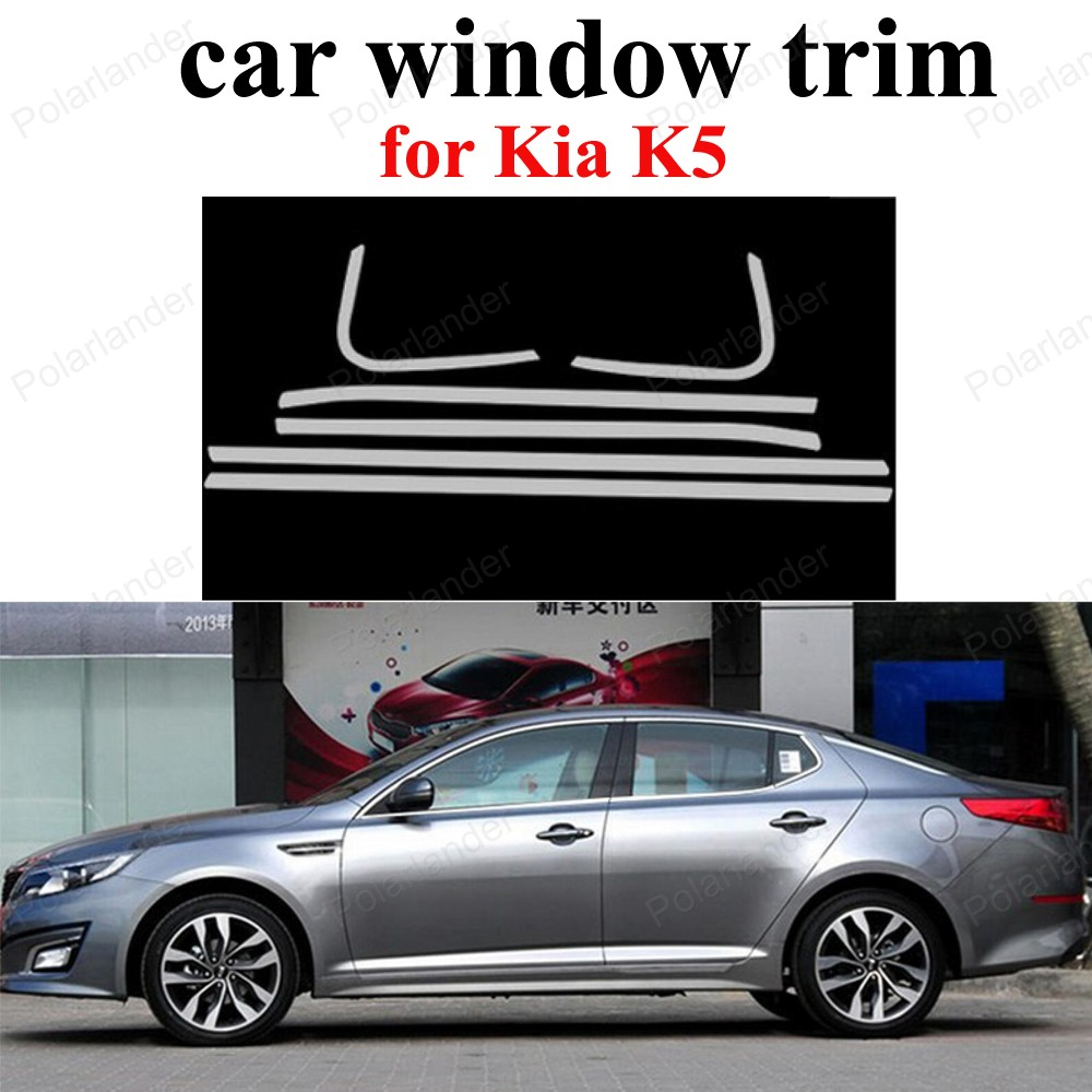 Stainless Steel For K Ia K5 Car Sill Frame Exterior Accessories Window Trim Car Styling Us545
