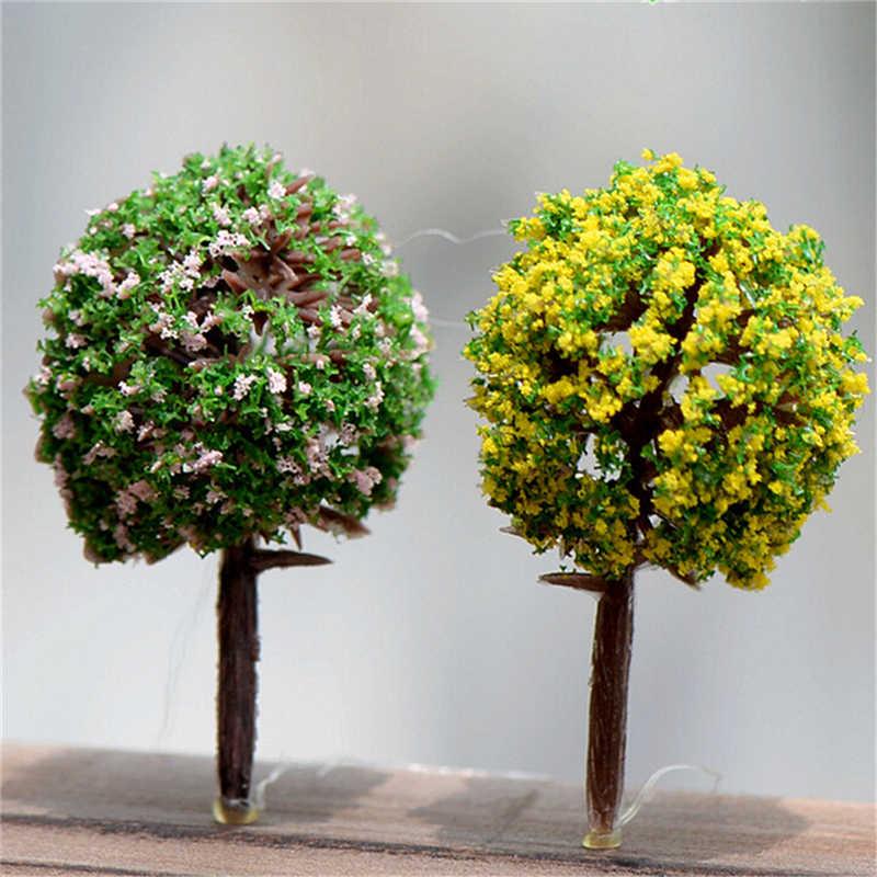 5 шт./лот Микро Моделирование дерево цветок шар дерево Пейзаж украшения аксессуары для украшения дома и сада 5 цветов