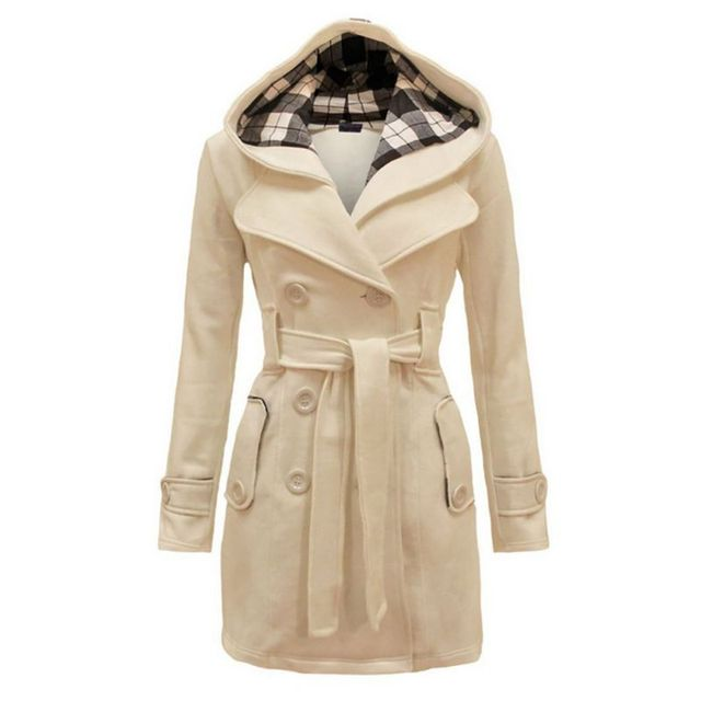 size 40 ce04f 69ac7 Winter Frau Mantel Warme Windjacke Frauen Wolle & Blends Mäntel Weibliche  Jacke