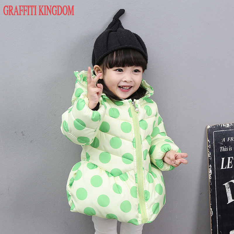 New Arrival 2017 baby girls hooded winter jacket little girls padded coats thick kids quilted jacket Polka Dot korean brand bulk buy martha stewart clear stamps vintage garden 3 pack