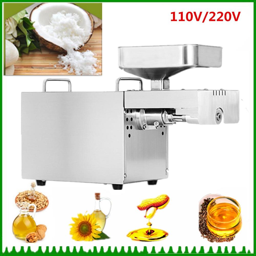 цена Household Mini Cold Oil Pressing Machine Oil Expeller Small Coconut Seed Almond Nuts Oil Pressed Machine в интернет-магазинах
