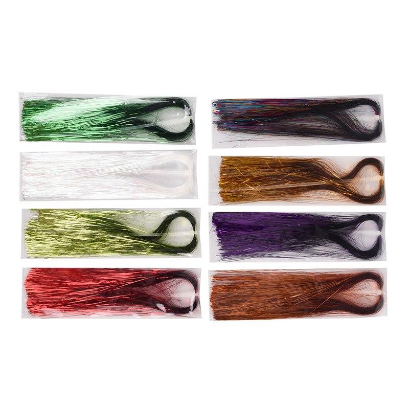 10 Colors Durable Wavy Nylon Fibers Salt Water Fly Tying Materials 25-30cm