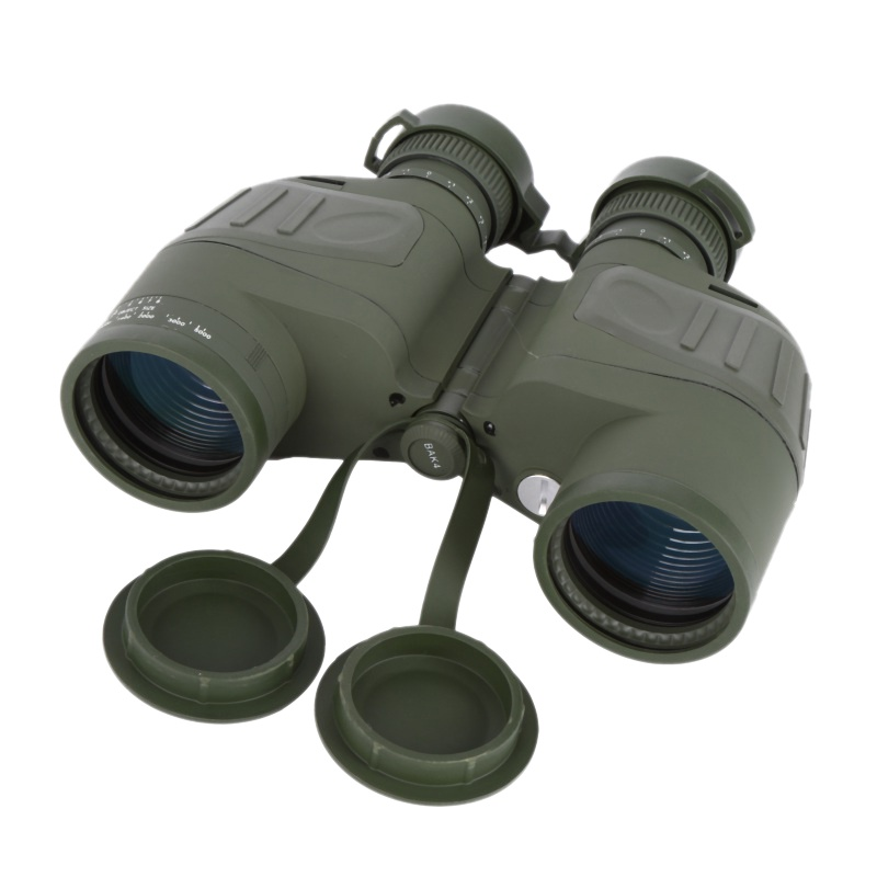 Outdoor Hunting Telescope 10X50 Binoculars Full Optical Green Tape With a Compass Waterproof Binoculars Hunting цена