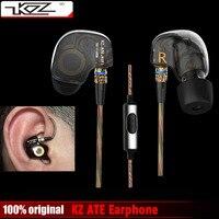 Original KZ ATE Copper Driver Ear Hook HiFi In Ear Earphone Sport Headphones For Running With