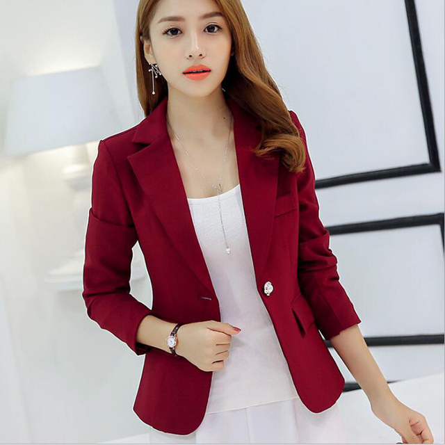 Womens Jackets And Coats Slim Fit Blazer Women Formal Jackets Office Work Notched Ladies Blazer Coat vadim feminino abrigo mujer 2