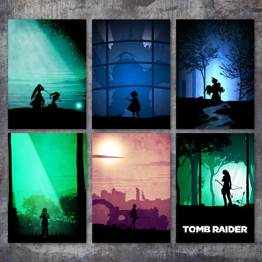 Us 3 09 37 offbioshock tomb raider final fantasy nierautomata wall art canvas painting nordic posters and prints wall pictures for kids room in