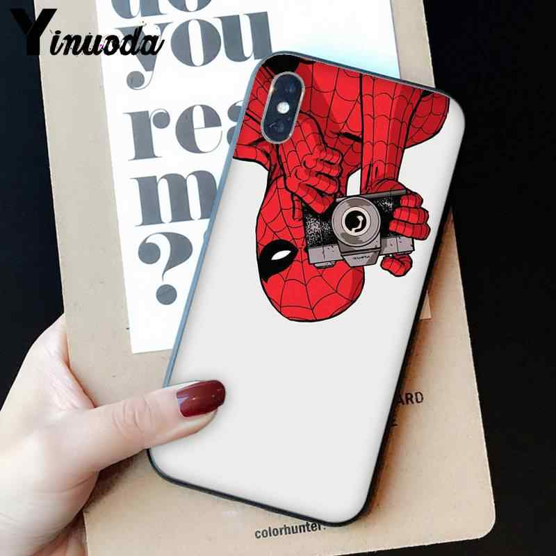 Yinuoda bien Marvel Deadpool de lujo diseño único iPhone 7 para iPhone 8 7 6 6S 6Plus 5 5 5S SE XR X XS X MAX 11 11pro 11promax