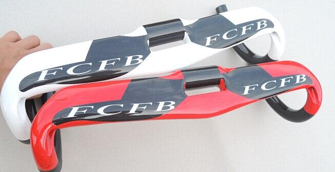 Peinture FCFB FW guidon de route en fibre de carbone guidon en carbone atteindre 80 MM DROP 128 MM barre supérieure en carbone 400mm 420mm 440mm