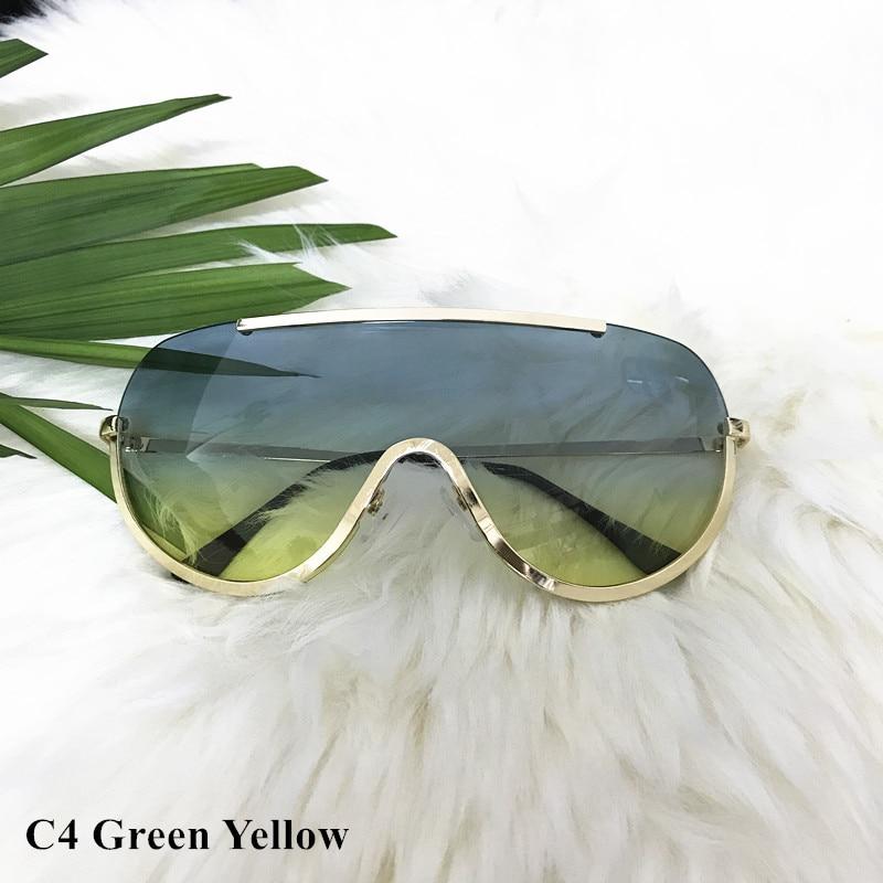 Rimless Gold Clear Sunglasses Men Women Brand Designer Aviator Clear Sunglasses 13