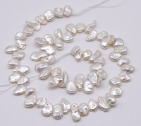 Natural Pearl Loose Beads Jewellery,8 10mm White Color Genuine Freshwater Pearl Jewellery,Irregular Pearls One Full Strand
