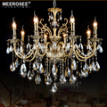 Luxury Crystal Chandelier Light Fixture Good Quality Lustres Suspension Lampara de techo Dining room Living room Lighting