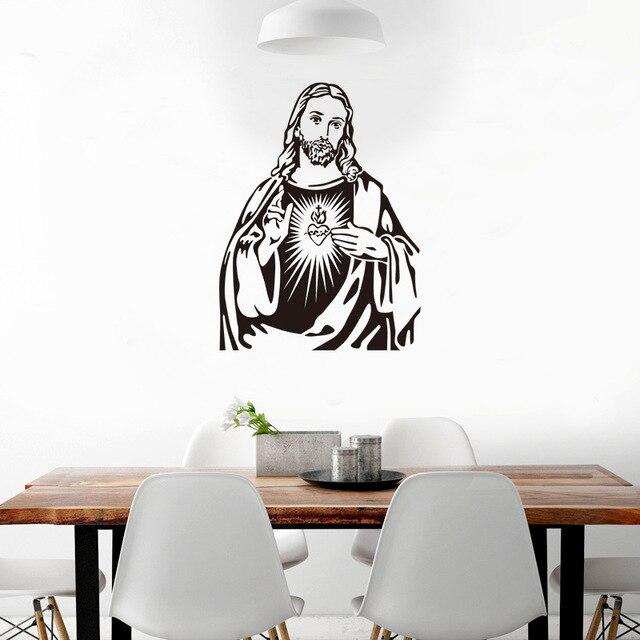 Jesus Christian Wandaufkleber Wohnzimmer Schlafzimmer Wandaufkleber  Katholizismus Religion Kultur Wandbilder Wallpaper Weihnachten Home Decor