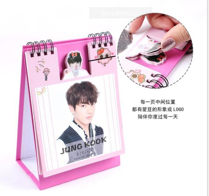 K-pop Kpop Bts Bangtan Boys V Album 2018 Desk Calendar Desktop Offic0e Desk Supplies School Korean Style Calendar Notes K Pop Women's Socks & Hosiery
