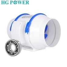 4/5/6/8'' 220V inline duct fan strong air ventilator ABS pipe ventilation exhaust fan dual speed system bathroom wall window fan все цены