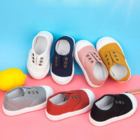 Children Shoes Candy Color Sneakers For Goys Girls Shoes Slip on Casual Shoes Canvas Kids Shoes For Baby Flats 305W1140331