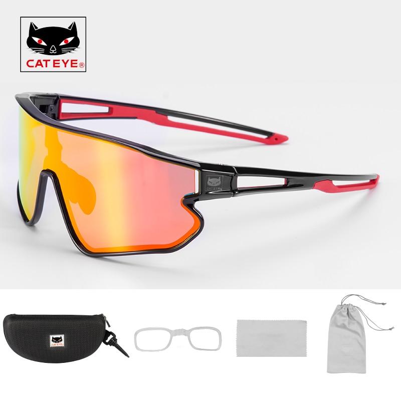 CATEYE Polarisierte Sport Sonnenbrille Radfahren Photochrome Gläser UV400 Beschichtung Leichte Laufschuhe Fahren Angeln Golf Gläser